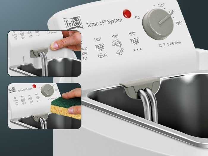 Fritel Click System a könnyű tisztításhoz