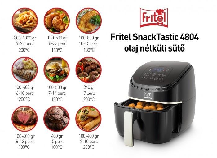 Fritel SnackTastic 4804 olaj nélküli sütő recept tippek